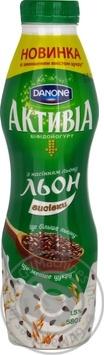 Скидка на Йогурт Активиа клубника-злаки 1.5% пластиковая бутылка 580г Украина