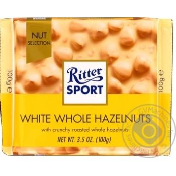 Chocolate white Ritter sport with nuts 100g