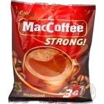 Напиток кофейный MacCoffee Strong 3в1 растворимый в стиках 25шт*12г