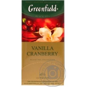 Чай Greenfield Vanilla Cranberry черный 25пак