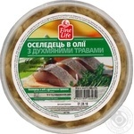 Fine Life With Fragrant Herbs In Oil Herring Fish