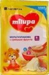 Каша молочная Milupa сухая быстрорастворимая мультизлаковая со смесью фруктов 210г