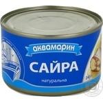 Fish saury Akvamaryn canned 245g