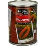 Fruit papaya Exotic food canned 565g