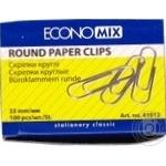 EconoMix Round Paper Clips 33mm 100pcs