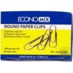 Economix Round Paper Clips 25mm 100pcs