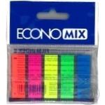 Закладки EconoMix з клейким шаром 5 кольорів по 25шт 12X45мм - купити, ціни на Метро - фото 2