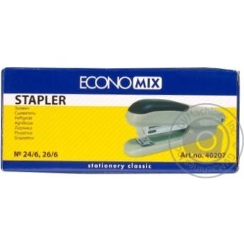 Сшиватель EconoMix №24/6, 26/6 до 25 листов пластиковый E40207