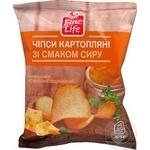 Чіпси Fine Life картопляні зі смаком сиру 65г