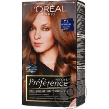 Color L'oreal Preference ash brown for hair