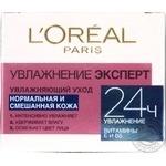 Крем для нормальной и комбинированной кожи L'oreal Paris Увлажнение эксперт 50мл