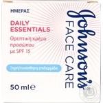 Дневной питательный крем Johnson`s Daily Essentials для сухой кожи с SPF15 50мл