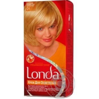 Крем для освітлення волосся Londa Технологія змішування тонів №01 Сонячний блондин - купити, ціни на Novus - фото 3