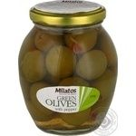 Milatos Green Olives with pepper 350g
