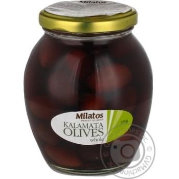 Оливки Milatos Каламата с косточкой 350г