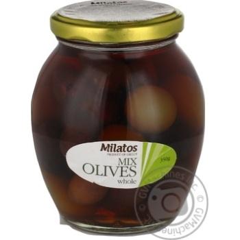 Оливки ассорті з кісточкою Milatos 350г