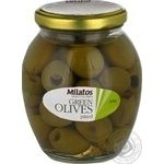 olive Milatos green pitted 350g