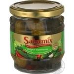 Огірки Корнішони мариновані з гострим перцем чілі SalatMix 360г
