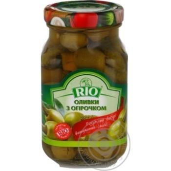 Оливки с огурчиком Rio 280г