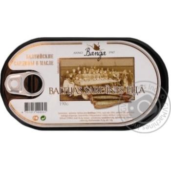 Сардина Banga Балтийская в масле 190г - купить, цены на Novus - фото 2