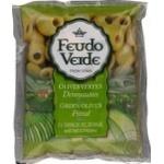 Оливки без кісточки консервовані пастеризовані Feudo Verde 170г