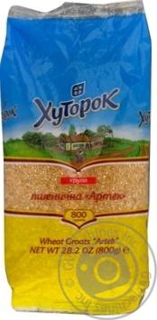 Скидка на Крупа Хуторок Артек пшеничная 800г