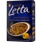 Вироби макаронні Pasta Letta ріжки 450г
