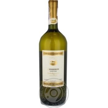Вино 0,75л 12% біле сухе Серце Кахетії Цинандалі