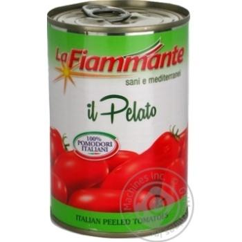 Томати La Fiammante цілі очищені 400г - купити, ціни на МегаМаркет - фото 1