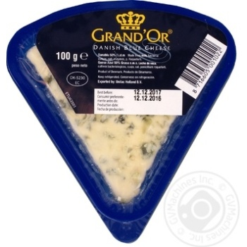 Cheese danablue Grand`or with blue mold 50% 100g - buy, prices for Furshet - image 1
