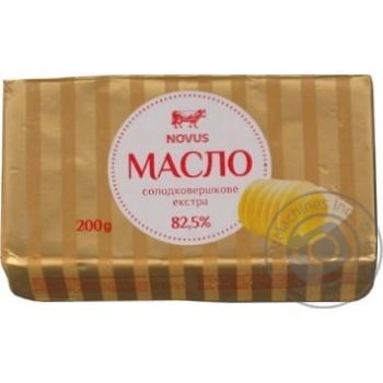 Масло солодковершкове Novus Екстра 82,5% 200г