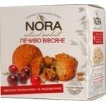 Печиво вівсяне Насіння соняшника і журавлина Nora 250г