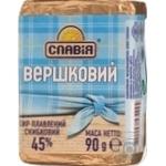 Сыр Славия Сливочный плавленый ломтевой 45% 90г