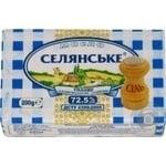 Масло Селянське солодковершкове солоне 72,5% 200г