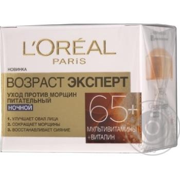 Крем ночной для лица L'Oreal Возраст эксперт против морщин 65+ 50мл
