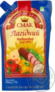 Скидка на Майонезный соус Королевский вкус Нежный 30% 360г