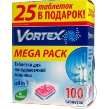 Таблетки для посудомойной машины Vortex All in 1 100шт/уп - купить, цены на ЕКО Маркет - фото 5