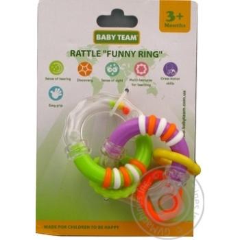 Игрушка-погремушка Baby team Забавные кольца
