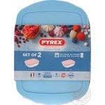 Набор форм для запекания Pyrex Candy c пластиковыми крышками 23*15см (1,1л), 28*20см (2,5л) 2шт