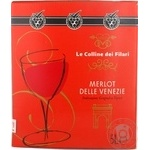 Wine merlot Le colline dei filari red dry 12% 5000ml Italy