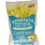 Snack Zhayvir Khrustata potata with taste of cheese 50g