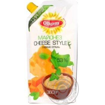 Mayonnaise Olkom Cheese 53% 360g - buy, prices for MegaMarket - image 1