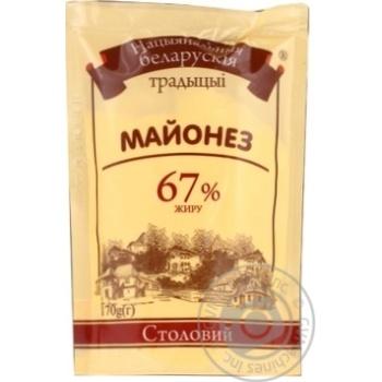 Скидка на Майонез Нацыянальныя Беларускія традыцыі Столовый 67% 170г