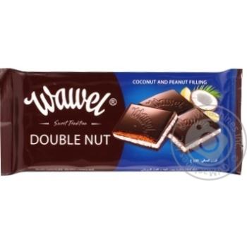 Шоколад черный Wawel с кокосово-арахис начинкой 100г