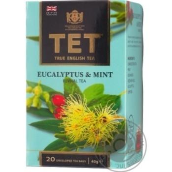 Чай TET Эвкалипт и мята зеленый 20шт x 2г