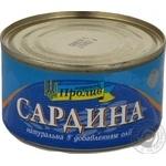 Сардини натуральні з додаванням олії Морской Пролив ж/б №5 240г