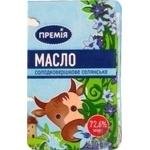 Масло сладкосливочное Премія Крестьянское 72,6% 400г