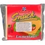 Сырный продукт Hofmeister Снек Эмменталь 8 ломтиков 150г