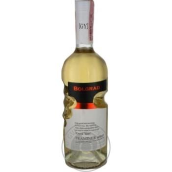 Вино Bolgrad GY Traminer Select белое полусладкое 11% 0,75л - купить, цены на МегаМаркет - фото 1