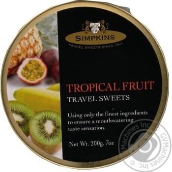 Леденцы Simpkins со вкусом тропических фруктов 200г
